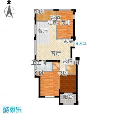 裕丰青鸟香石公寓130.44㎡南区1幢A3户型