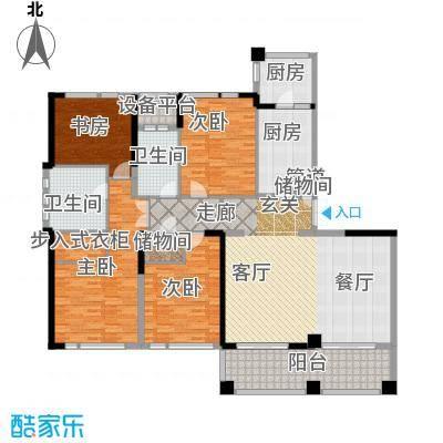 新湖武林国际公寓215.00㎡2号楼C户型