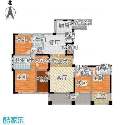 新湖武林国际公寓225.00㎡3号楼E户型