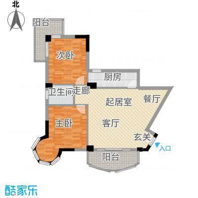 海滨城二期丽港新都102.76㎡E户型