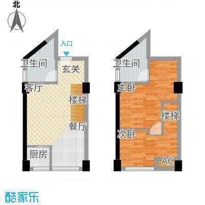 中民长青里44.64㎡2#楼C户型