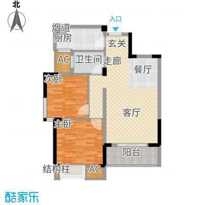 中民长青里84.39㎡4#楼5#楼F户型