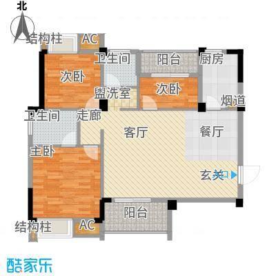 中民长青里100.34㎡4#楼5#楼E户型