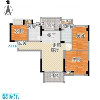 碧桂园温泉城J417B户型