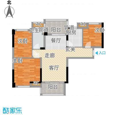 碧桂园温泉城J417A户型