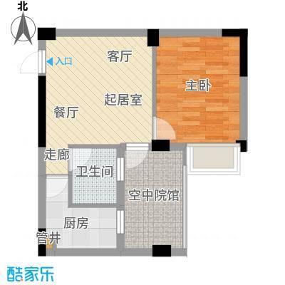 君融天湖51.71㎡D2户型