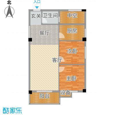 太子花苑86.23㎡八号楼C户型