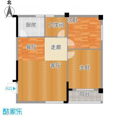 太子花苑82.46㎡八号楼B户型