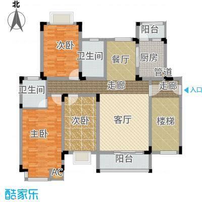 金谷鑫城三期101.32㎡一期3栋标准层B户型