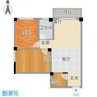 太子花苑76.00㎡十二号楼A户型