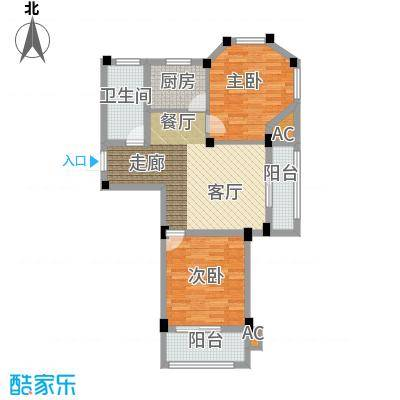 金谷鑫城三期79.60㎡二期1栋标准层R户型