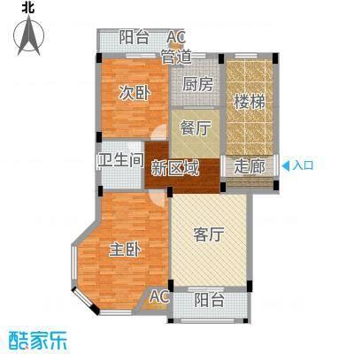 金谷鑫城三期78.65㎡二期1栋标准层A户型