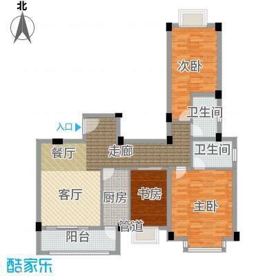 金谷鑫城三期115.00㎡一期3栋标准层F户型