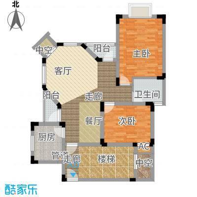 金谷鑫城三期75.62㎡一期3栋标准层C户型