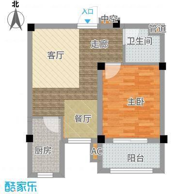 金谷鑫城三期53.40㎡二期1栋标准层Q户型