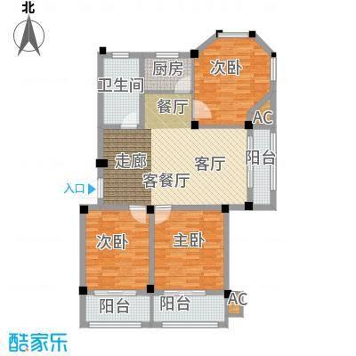 金谷鑫城三期102.60㎡二期1栋标准层R1户型