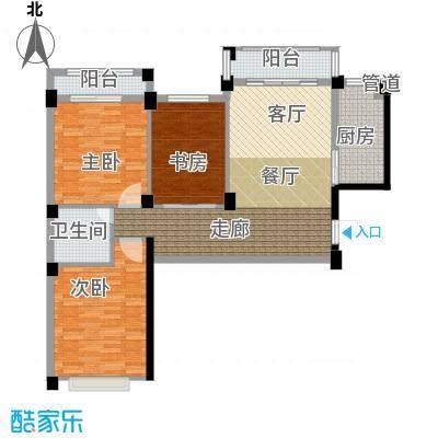 金谷鑫城三期106.00㎡三期W户型