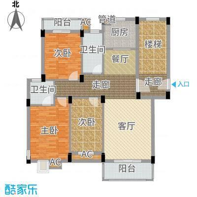 金谷鑫城三期105.21㎡二期1栋标准层G户型