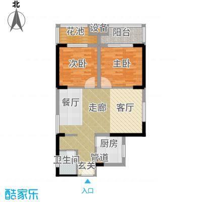祥瑞东方城75.95㎡二期10号楼D4户型