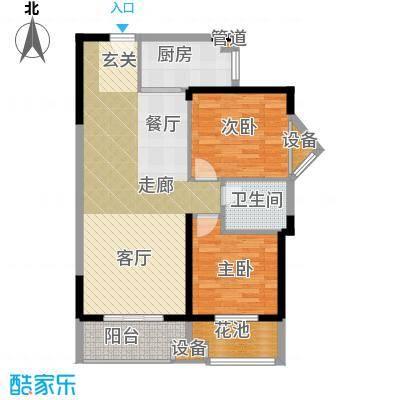 祥瑞东方城86.58㎡二期10号楼D3户型
