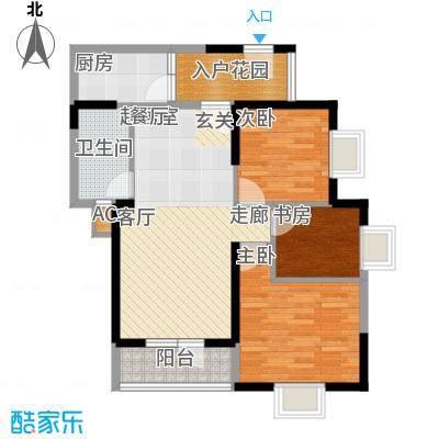 龙源映象91.10㎡3、4号楼A3户型