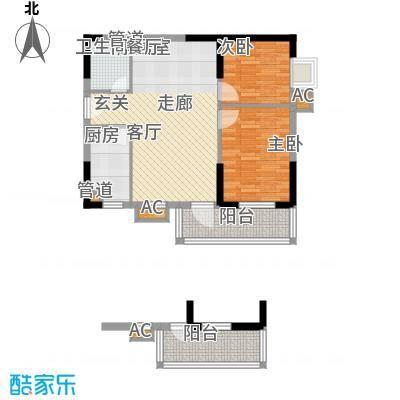 龙源映象77.16㎡1、2、3、4号楼A4户型