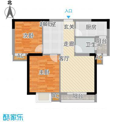 龙源映象87.30㎡5号楼C2户型