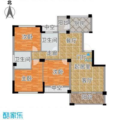 江湾华庭123.00㎡4、5号楼01户型