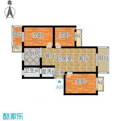 江湾华庭106.17㎡K户型