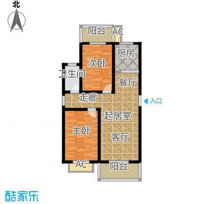 江湾华庭92.48㎡J户型