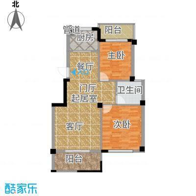 江湾华庭93.00㎡4、5号楼02户型