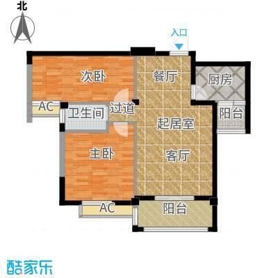 江湾华庭88.60㎡B户型