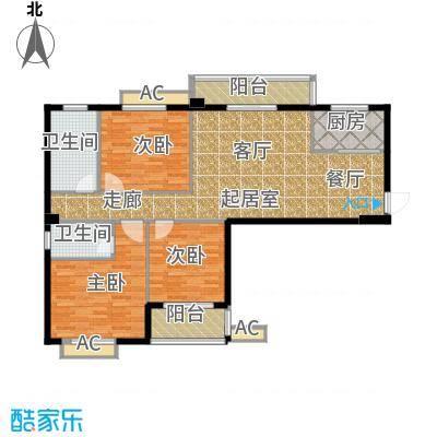 江湾华庭124.81㎡A户型