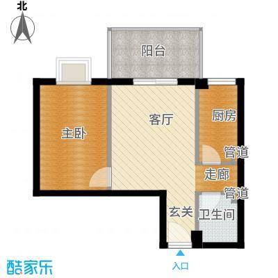 汉口中心嘉园70.51㎡A21面积7051m户型