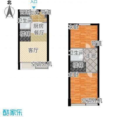 枫景国际公寓36.00㎡1#楼B户型