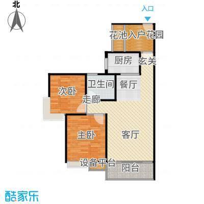 曦华佳苑82.00㎡2、5号楼C2户型