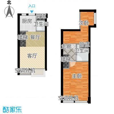 枫景国际公寓36.00㎡1#楼E户型