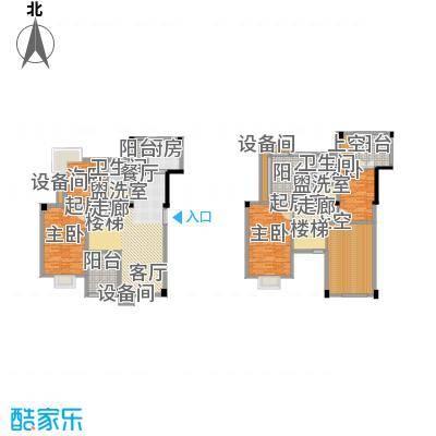 红莲湖首府144.00㎡复式户型