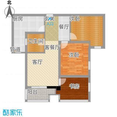 千晴岸84.58㎡D2户型