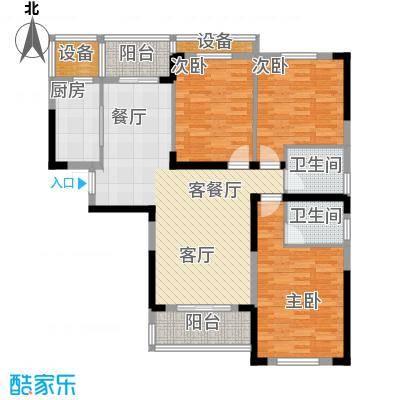 千晴岸124.66㎡C3户型