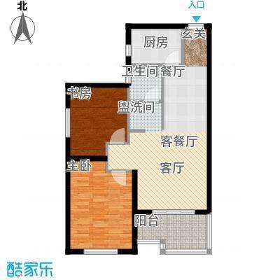 千晴岸76.97㎡A3户型