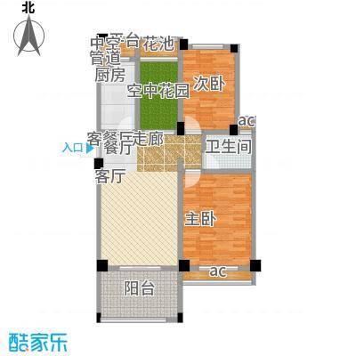 锦绣龙城八期鎏园83.00㎡71、73号楼D2户型