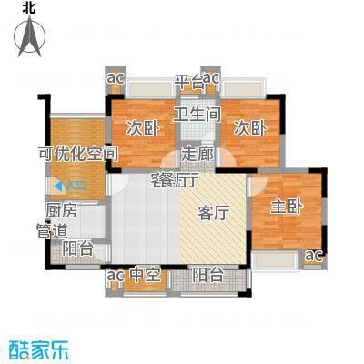 锦绣龙城八期鎏园95.00㎡A1(已售完)户型