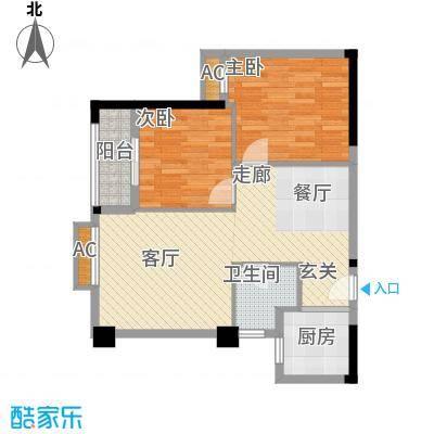 同馨花园雍豪府82.93㎡25#楼B-2户型