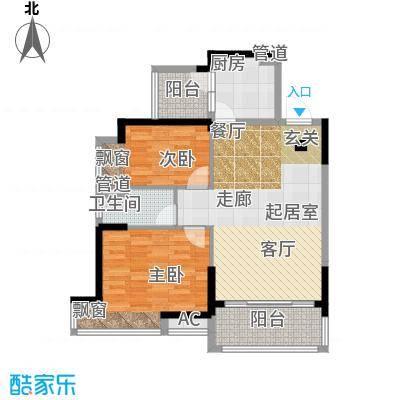 荆门碧桂园86.00㎡1号楼B户型