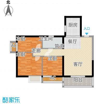 恒大御景湾89.00㎡4号楼6号房户型