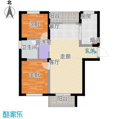 华茂品江92.00㎡S3、S4、S5号楼A户型