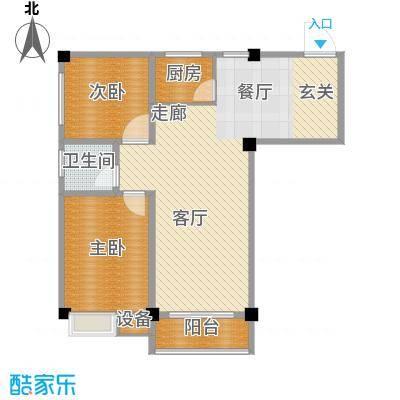 太子花苑83.75㎡十二号楼C户型