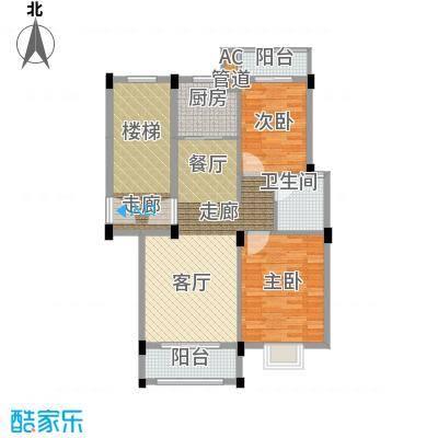 金谷鑫城三期81.22㎡二期1栋标准层B户型