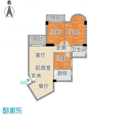海滨城二期丽港新都118.58㎡B户型